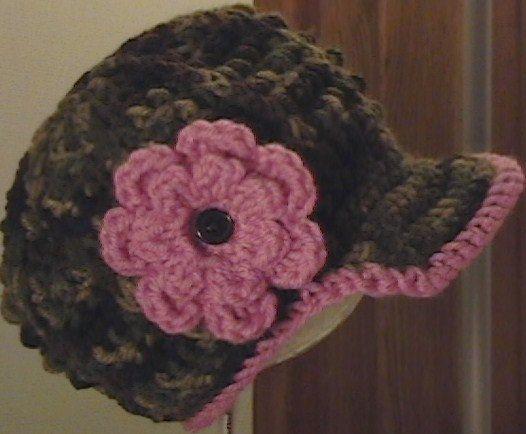adorable crochet baby boy/girl camo newsboy hat by luckybella72, $11.00