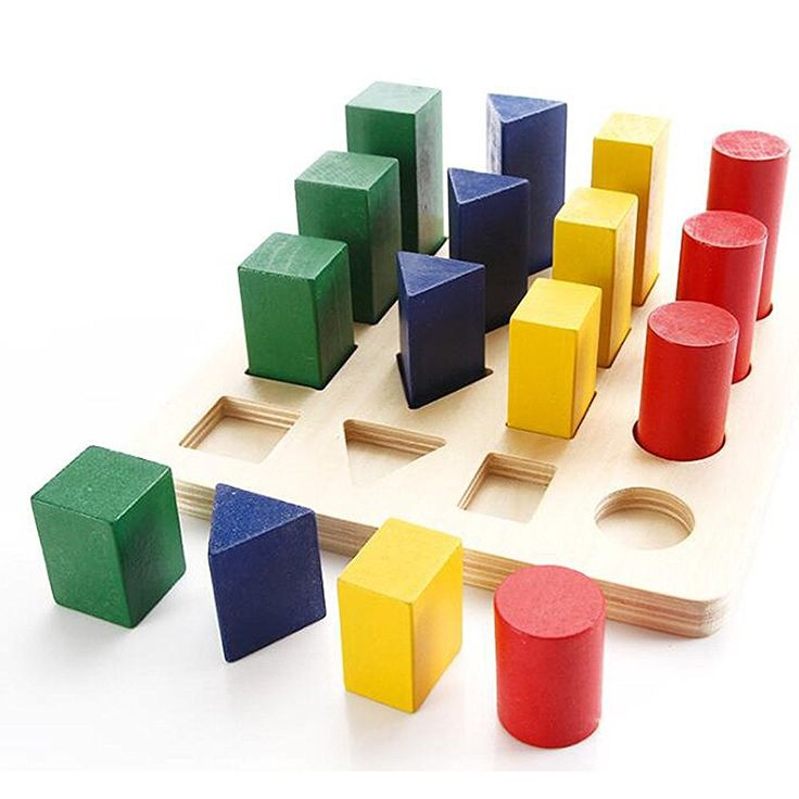 Amazon.com: Color and Shape Sorter Wooden Sorting ...