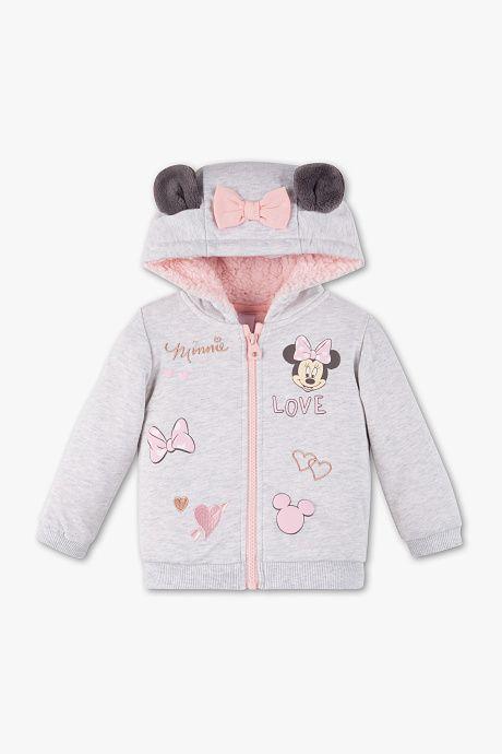 entrega rápida entrega gratis Tener cuidado de Bebés - Minnie Mouse - Chaqueta sudadera para bebé - gris ...