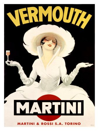 Vintage Poster - Vermouth Martini - Drinking - Alcohol I have a set of plates with this on it....