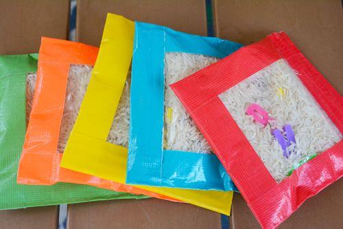 Faites vos propres sacs de fèves sensorielles