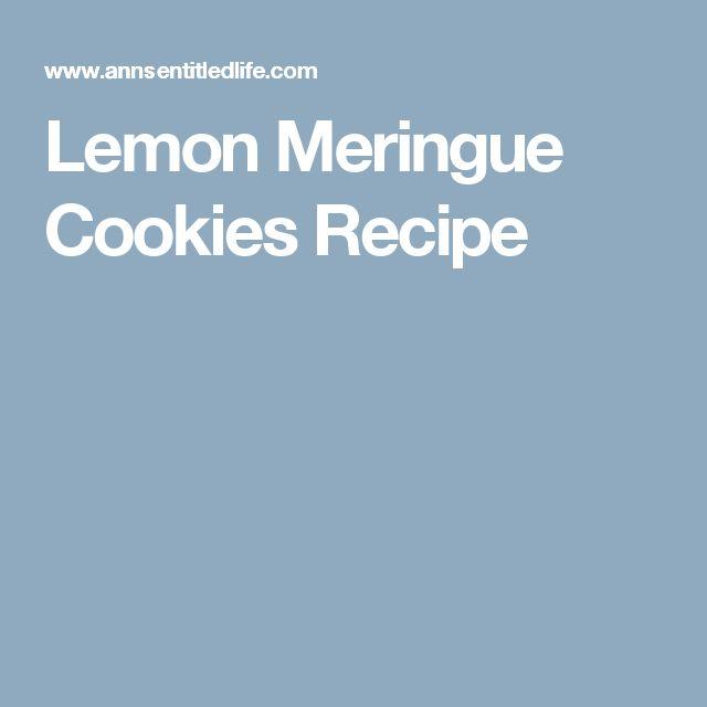 Lemon meringue cookie recipe