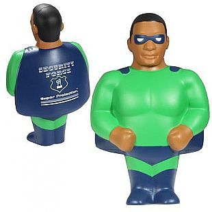 African American Super Hero Stress Reliever, Custom Printed African American Super Hero Stress Reliever. As low as $2.35, LCA-AA09