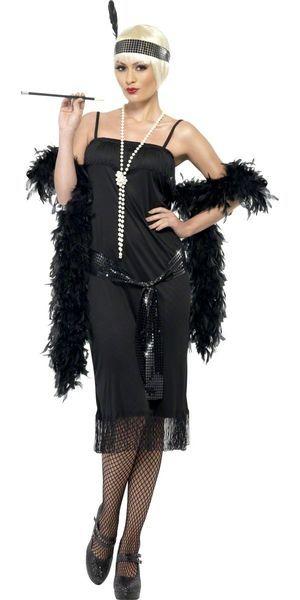 Naamiaisasu; 20-luvun Tanssityttö musta  20-luvun tanssitytön asu, musta sopii hienompaankin tapahtumaan… #naamiaismaailma