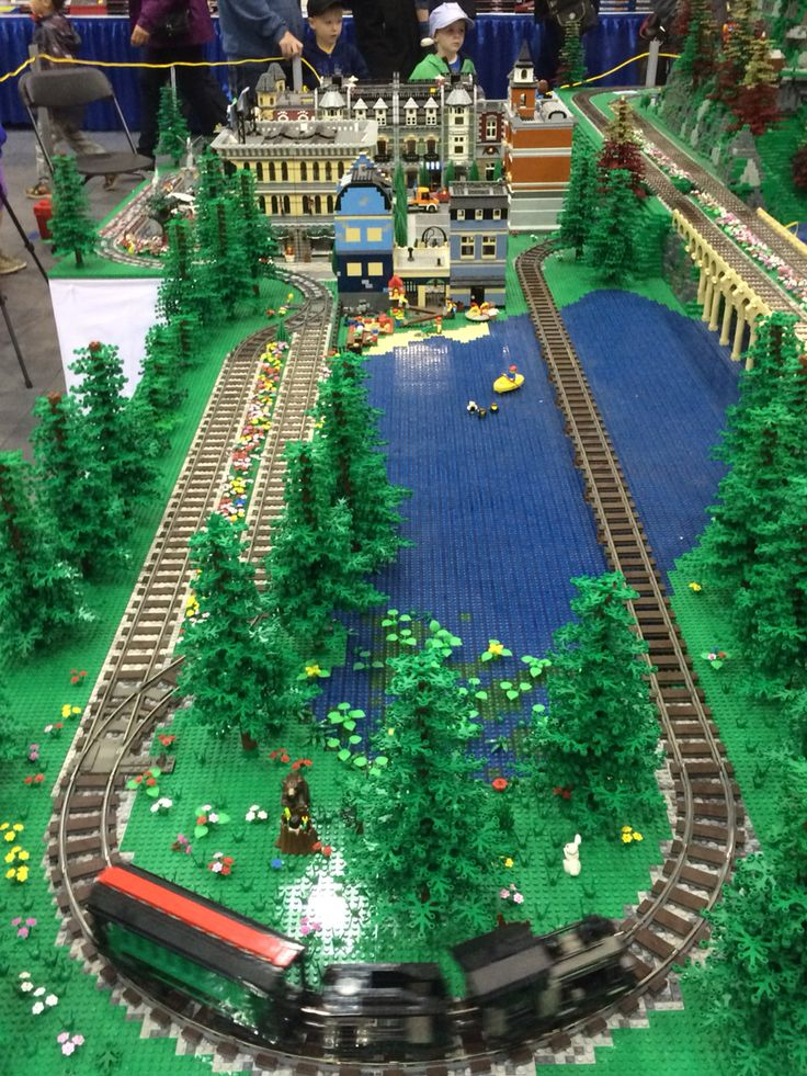 Lego display at train show