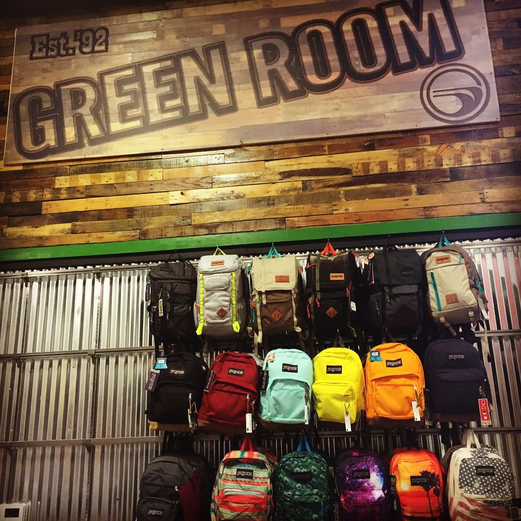 One of the BEST SELECTIONS of JanSport at The Green Room in Fountain Valley, CA! It's worth the trip!!! Surf/skate shop w the BEST BRANDS!