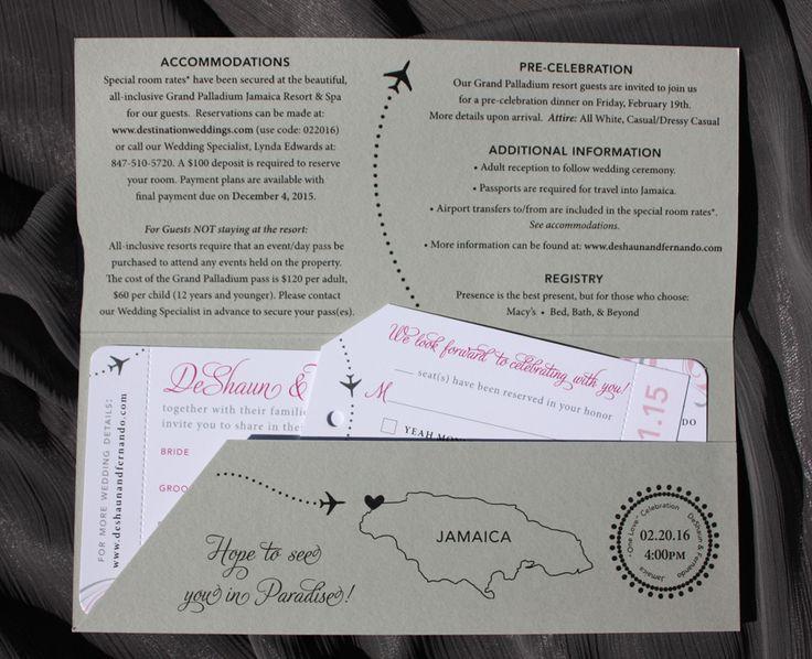 The 25+ best Airplane wedding invitations ideas on Pinterest - plane ticket invitation template