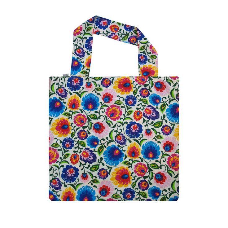 EKO TORBA FOLK BIAŁY #cotton #totebag #bag #beutel #shopping #folk #flowers