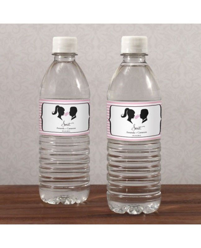 Sweet Silhouette Water Bottle Label www.mybridalsupply.com