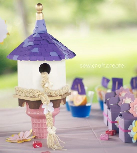 Make Your Own Rapunzel Tower Out Of A Birdhouse Crafts