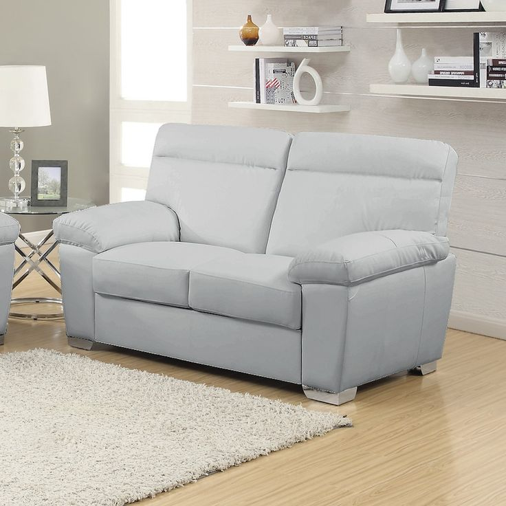 Best 25 grey leather sofa ideas on pinterest grey for Light gray leather sofa