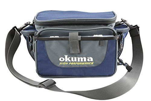 Okuma Fishing Tackle Soft Sided Tackle Bag  http://fishingrodsreelsandgear.com/product/okuma-fishing-tackle-soft-sided-tackle-bag/  Bag made of 600 D polyester with PU coating Tackle bag includes 3 hard tackle boxes High quality molded composite zippers which are Extremely strong and corrosion resistant
