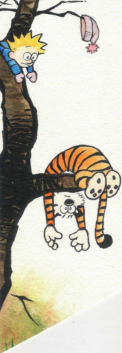 BOOKMARK: Calvin and Hobbes. by meriimerodii.deviantart.com on @deviantART