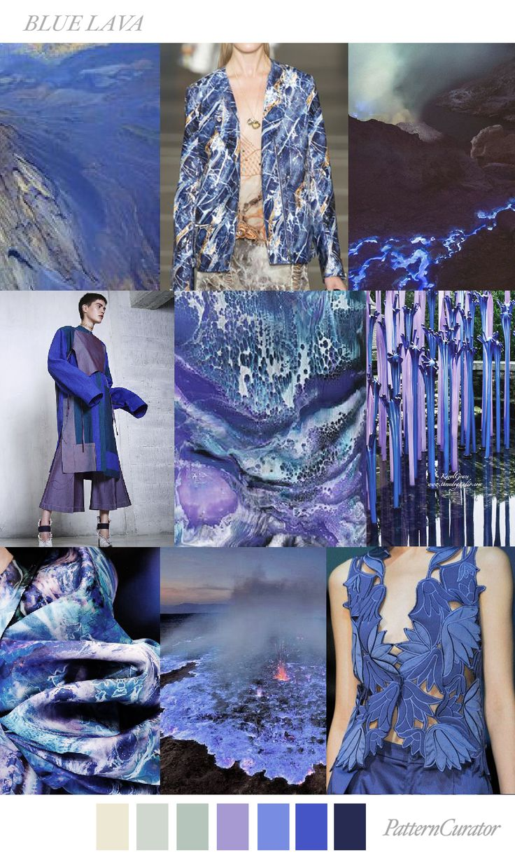 BLUE LAVA by PatternCurator