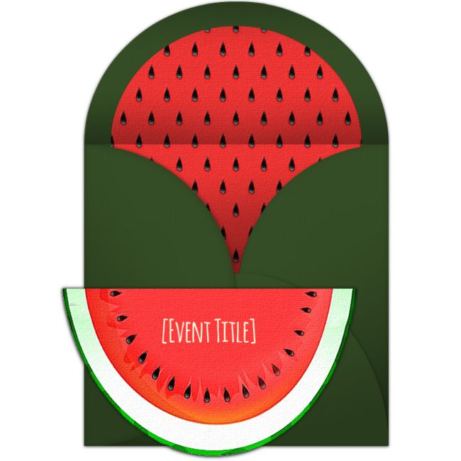 free whimsical watermelon invitations in 2018 summer parties