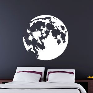 0231 wall decal moon sticker