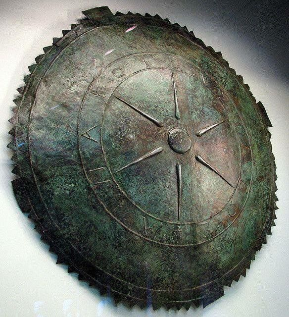 Greek bronze shield, Pontis,185 B.C. The star symbolizes the sun & kingship, shield was made for King Pharnakes