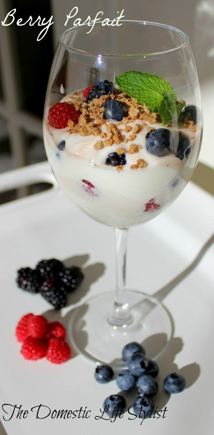 Triple Berry parfait | Breakfast Foods | Pinterest