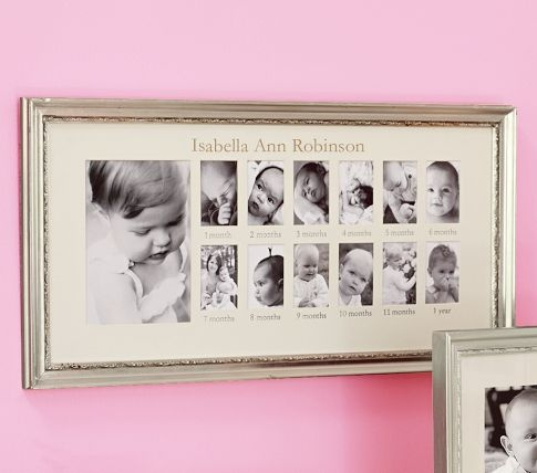 first year frameFirst Years Photos, Birthday Parties, Baby First Birthday, First Year Photos, Pottery Barns Kids, Baby Photos, Pictures Frames, Baby Gift, Years Frames