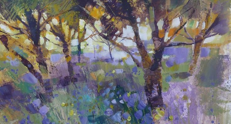 Blue Beneath Olive Mixed Media - by Artist Chris Forsey