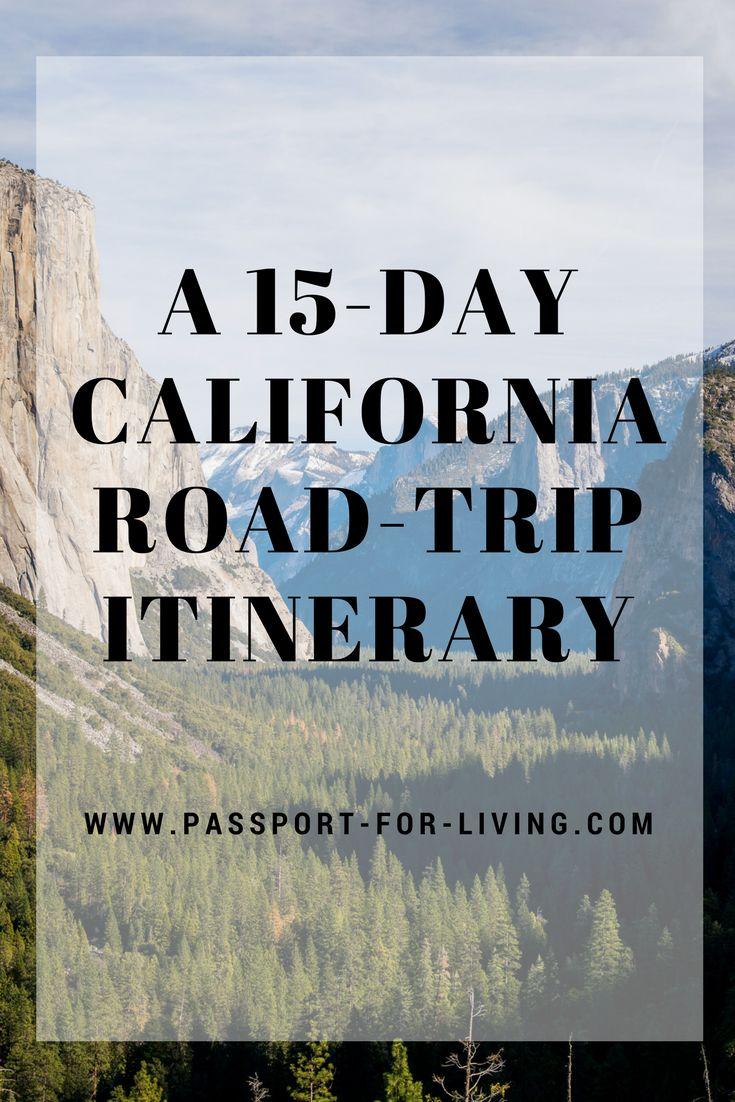 A 15-Day California Road-Trip Itinerary - USA - Cali - Yosemite National Park - Late Tahoe - San Francisco - Los Angeles - Pacific Coast Highway 1