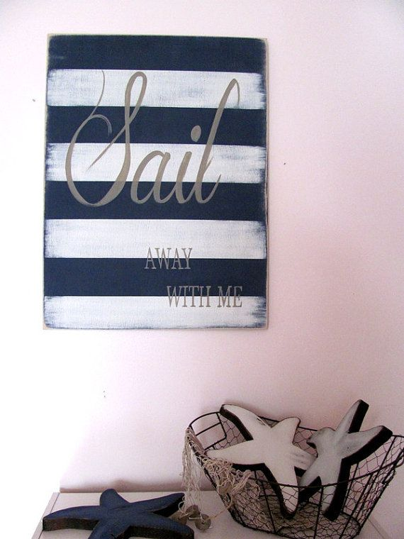 READY TO SHIP Sail away rustic sign nautical by ourhousetoyours, $40.00