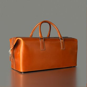 Tanner Krolle's Iconic 1870 Top Frame Holdall in Cognac. Beautiful.