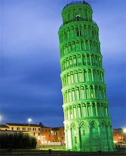 The leaning Tower of Pisa among monuments to go green for St. Patrick's Day
