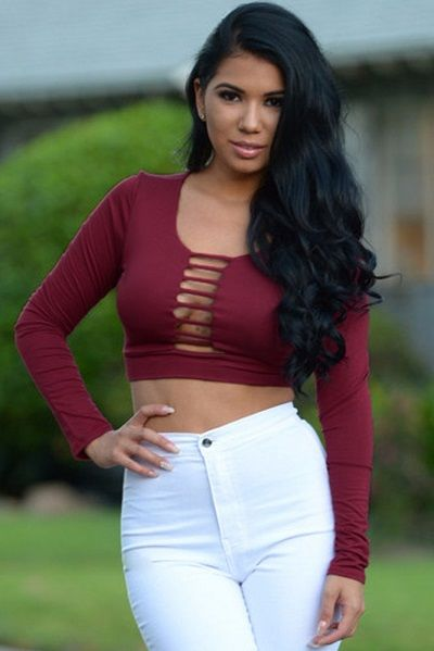 Burgundy Physical Attraction Top