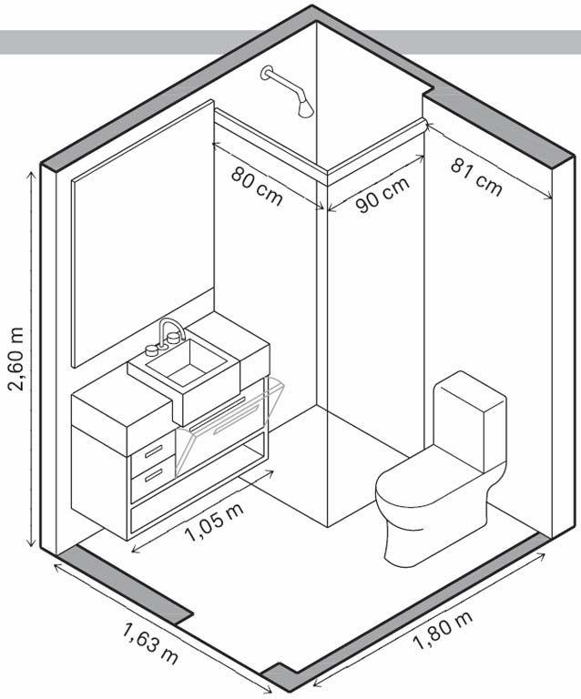 Aproveite as boas ideias destes dois banheiros e veja as orientações para ganhar espaço em ambientes tamanho P.