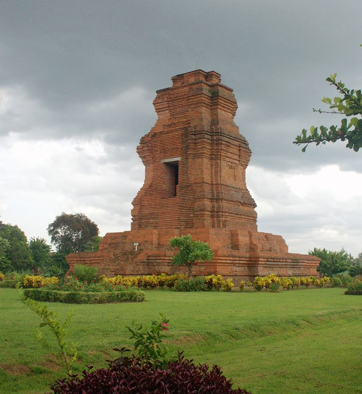 Brahu temple at Trowulan archaeological site, East Java. The tall red bricks temple is dated from Majapahit period circa 13th to 15th century.