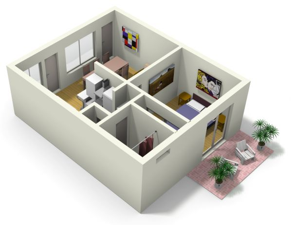 1000 ideas about small apartment plans on pinterest for Small apartment building design
