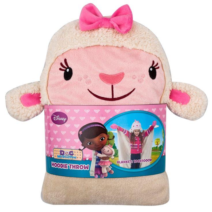 Warme Decke mit Lammie-Kopf aus der Disney Serie Doctor McStuffins für Kinder, die an Karneval im Warmen bleiben wolllen!