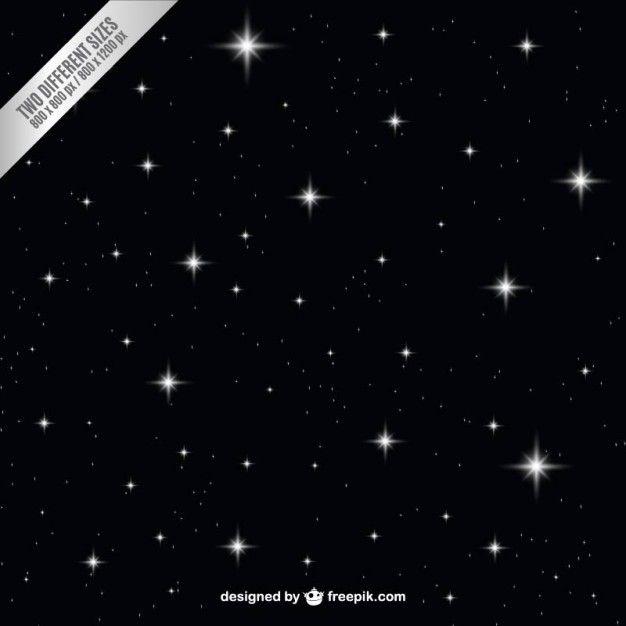 Dark night sky with stars background