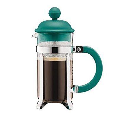 Bodum Chambord CAFFETTIERA Kaffeebereiter, ca. 3 Tassen, Color Sonderedition mint/türkis, ca. 0.35 l