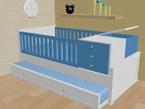 Cama cuna ref cn15 cama cuna convertible muy funcional - Cuna o cuna convertible ...