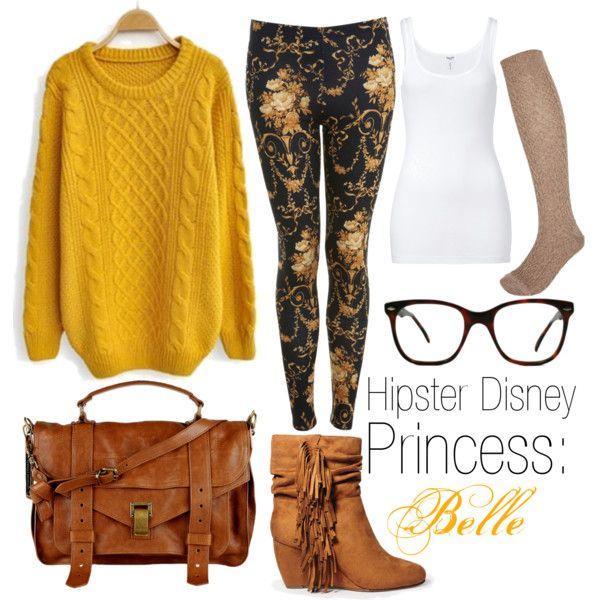 """Hipster Disney Princess: Belle"" by tiainwonderland on Polyvore"