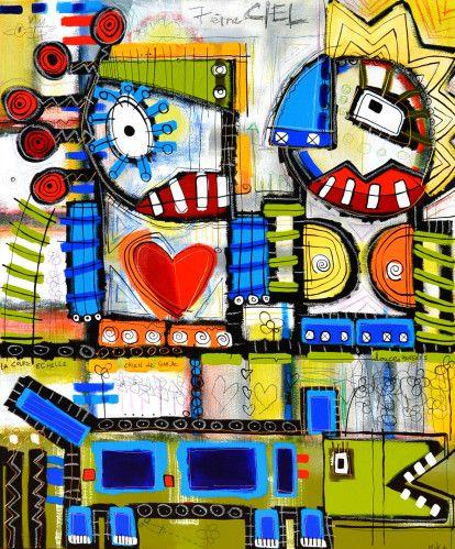 MIKA - &7e ciel& - 100 x 120 MIKA est de retour pour la 8e exposition de la galerie. Après de nombreuses présentations entre Pau, Lille, Nancy, La Rochelle, Tours, St- Dié des Vosges et Paris Bastille, l'artiste revient avec ses toutes dernières créations...