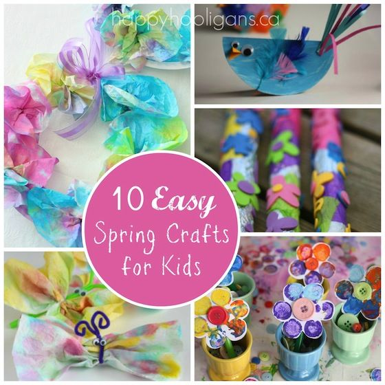 10 Spring Crafts for Kids round-up - Happy Hooligans