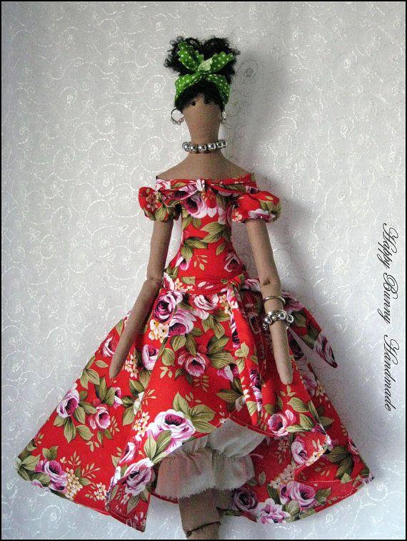 Tilda doll Fabric doll Tilda Doll OOAK doll Afro Cloth doll