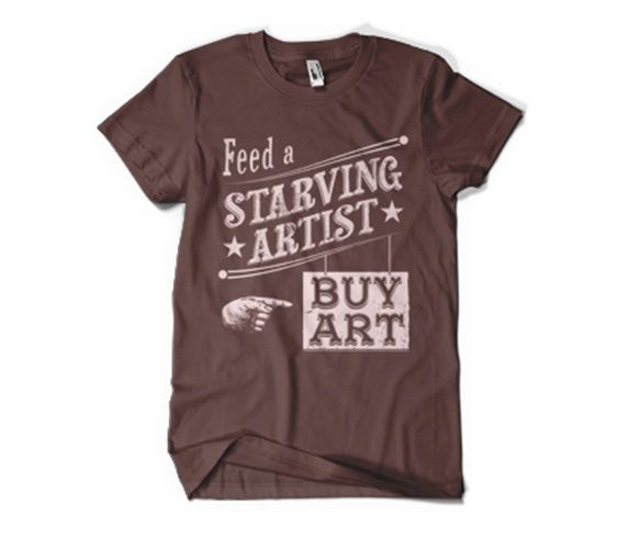 Feed an Artist Tee by Poosh Designs & Apparel @ Uncovet