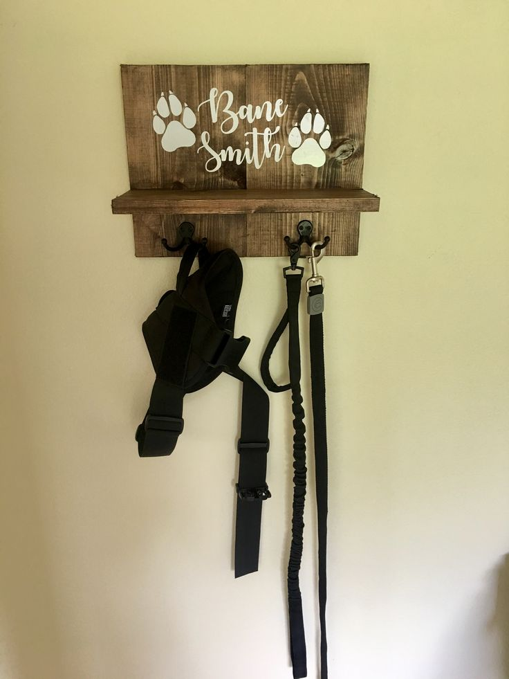 Dog leash holder