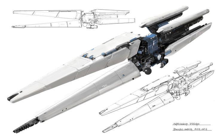 Spaceship design_1, Bohao Wang on ArtStation at…