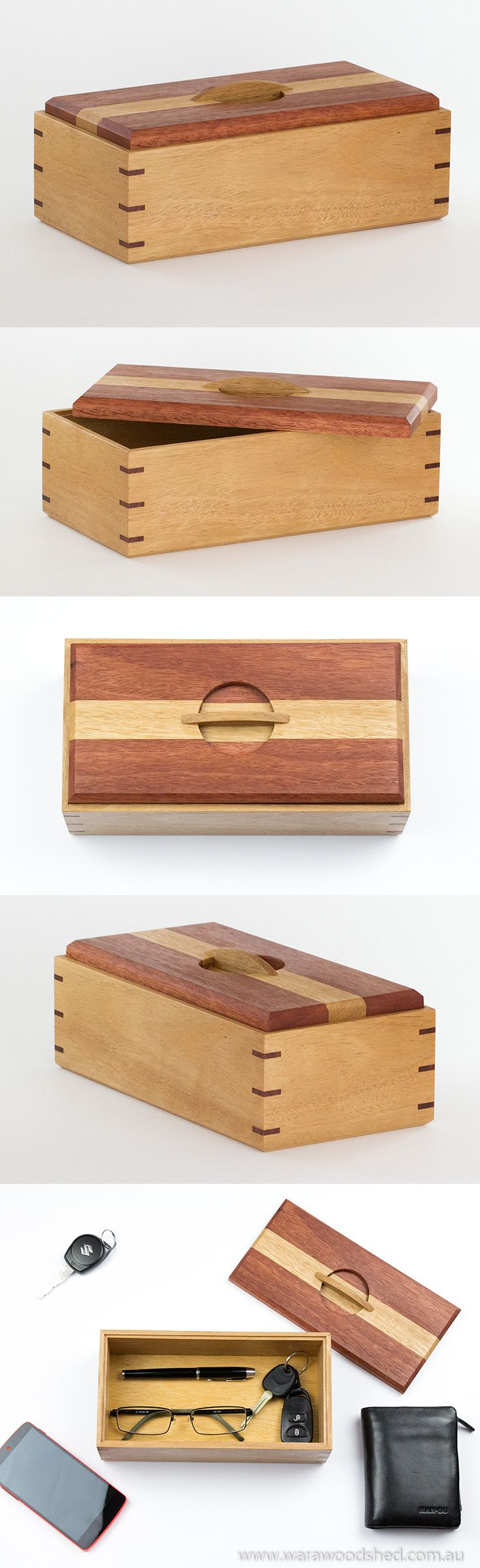 A wooden keepsake box made from Australian timbers