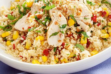 Chicken with lemon and couscous