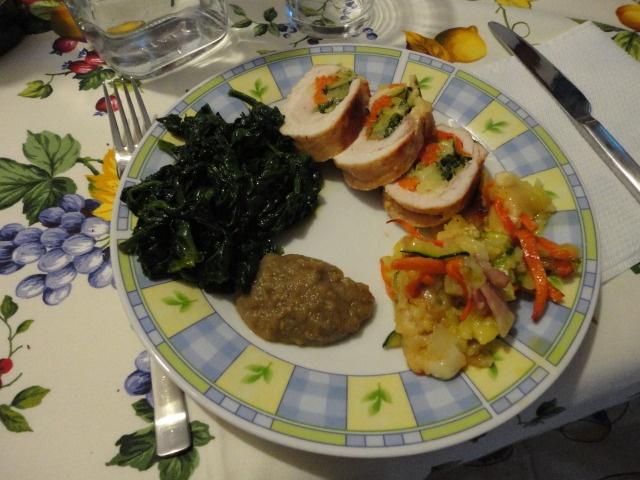 Involtino di pollo con verdurine e formaggi