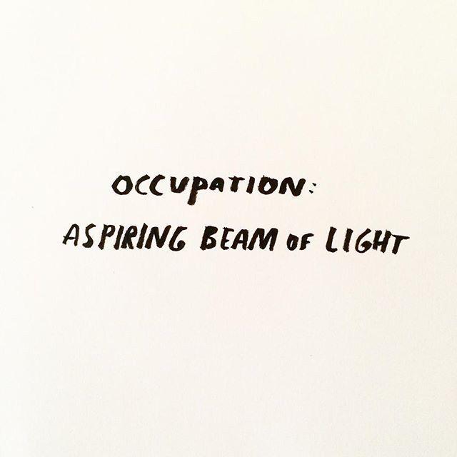 occupation: beam of light