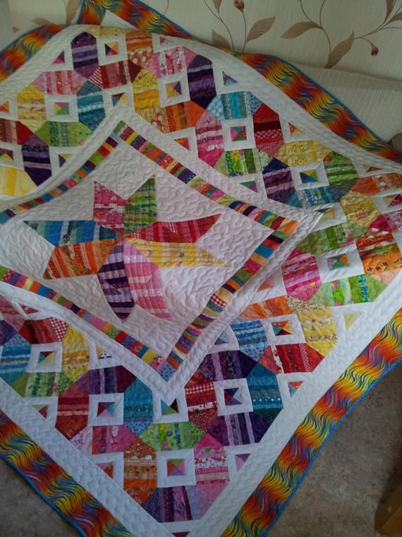 Scrap Happy Star Quilt Pattern | Quilting/Sewing | Quilt patterns