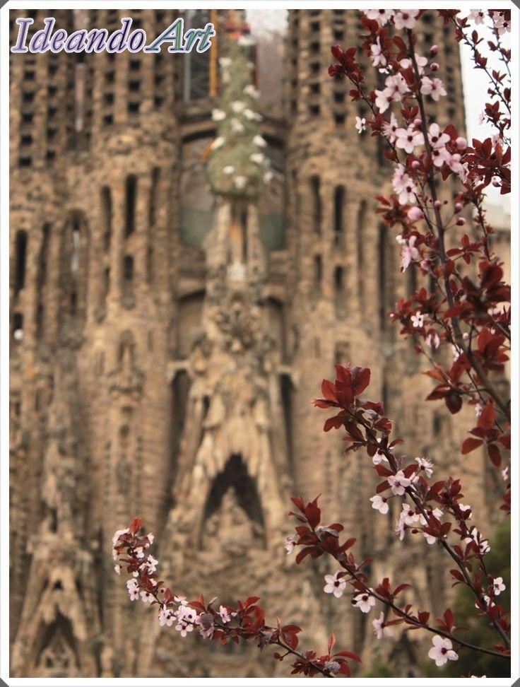 Sagrada Familia de Barcelona en primavera by IdeandoArt