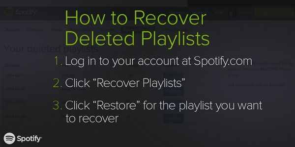 No need to freak out over a deleted playlist. We've got you. #CrisisAverted
